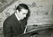 """""""Franco MANZECCHI au CHAT QUI PÊCHE septembre 1960"""" Photo originale argentique"""
