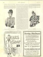 1899 Phil May Cartoon Ears Soap Scene After Pig Sticking German Officer