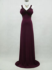 Cherlone Purple Long Ballgown Wedding Evening Bridesmaid Formal Dress Size 12-14