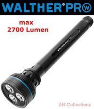 WALTHER PRO XL3000r LED Taschenlampe Flashlight 2700 Lumen inkl. Akku + Netzteil