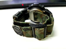 Rare G-Shock Vintage G-315RC Army Green Camouflage Cloth Band Digit-Ana Limited.