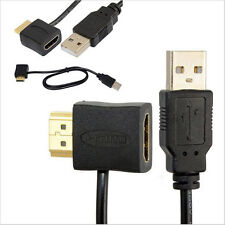 USB 2.0 Male Charger Cable Splitter Adapter +50cm HDMI Male To Female Connector