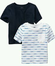 AUTH. BNWT OLD NAVY POCKET TEE 2 PACK FOR BABY BOYS (12-18 MOS.), NAVY BLUE
