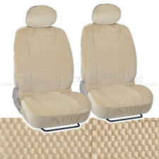 Bucket Seat Covers Premium Checkered Cloth Beige Scottsdale Front Pair