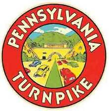 Pennsylvania Turnpike  PA   Vintage-Looking  Travel Decal/Sticker/Luggage Label