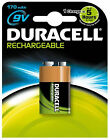 1 x DURACELL 9v 170 mAh RECHARGEABLE BATTERY HR9V HR22 PP3 BLOCK 9 v NiMAH