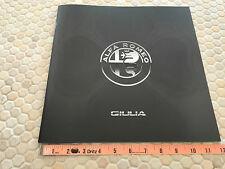 ALFA ROMEO GIULIA QUADRIFOGLIO FIRST PRESTIGE SALES BROCHURE USA EDITION 2017