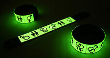 Pride  Glow in the Dark Rubber Bracelet Wristband Rainbow Gay Lesbian Lgbt vg333