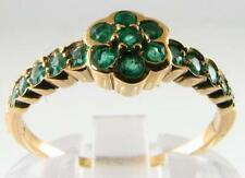 "ENGAGING  COLOMBIAN EMERALD "" DAISY "" ART DECO INS RING 17 EMERALDS"