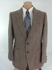 BARRAGE MENS BROWN TWEED TWO BUTTON WOOL BLEND SUIT JACKET SPORT COAT SIZE 40R