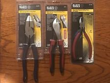 "KLEIN TOOLS 3PC PLIER SET ""USA"""