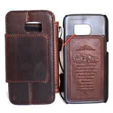Real retro leather case for Samsung Galaxy S7 Edge book wallet Removable cover 7