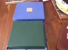 Eli Bleu Cigar travel humidor.  Green leather in box,