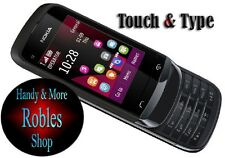 Nokia C2-03 Touch Black (Ohne Simlock) 2,0MP DUAL-SIM CARD TOUCH Slide GUT OVP