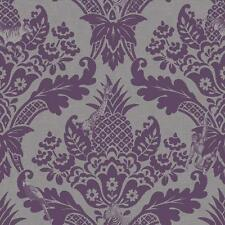 NEW HOLDEN DÉCOR BENGAL DAMASK PATTERN ANIMAL TIGER ZEBRA SILVER WALLPAPER 98413