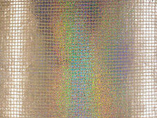 SQUARE HOLOGRAPHIC SEQUIN NET SILVER C107 SEQUINED DRESSMAKING FABRIC CRAFT