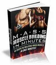 Mass Muscle Building In Minutes Ebook & Video Course & Website CD & Resell Right