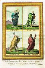 """Dr. Wright's Life of Christ """"THE EVANGELISTS"""" - Hand-Colored Eng.-1785"""