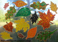 BEA'S AUTUMN LEAVES  WINDOW CLINGS CONSERVATORY  MIRROR TILE DECORATION