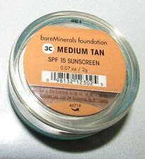 Bare Escentuals MEDIUM TAN SPF15 Loose Mineral Foundation 2g Travel Size Sealed