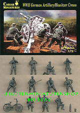 1:72 FIGUREN H084 WWII GERMAN ARTILLERY HOWITZER CREWS - CAESAR