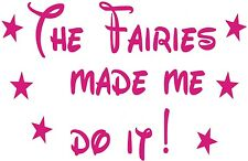 tinkerbell funny fairy fairies made me do it girls vinyl car sticker wall art
