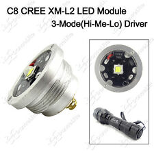 1PC 1800lm 3-Mode(H-M-L) CREE XM-L2 U3 LED Module Drop-in For C8 Flashlight Lamp