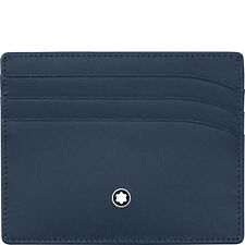 Montblanc MEISTERSTÜCK POCKET credit card holder 6CC 114557 blue navy leather