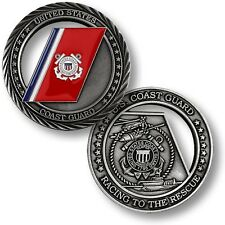 """Coast Guard """"Racing to the Rescue"""" Challenge Coin USCG United States US Cutter"""