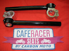 CAFE RACER 35mm CLIP ON HANDLEBAR FULLY ADJUSTABLE CNC ALLOY *NEW* FREE DELIVERY