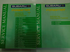 2002 Subaru Forester HVAC Body Cab Restraints Service Repair Shop Manual OEM Set