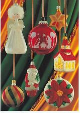 FRANKENMUTH MICHIGAN BRONNERS CLOSE UP OF XMAS BULBS ON POSTCARD (CD#62*)