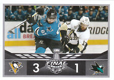 16/17 PANINI NHL STICKER STANLEY CUP FINAL #490 PENGUINS SHARKS BONINO *24679