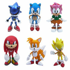 "6PC Sonic The Hedgehog 2.4"" PVC Figure Set Toy For Kids Gifting Fans Collection"