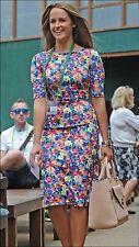 ZARA Floral Printed Bodycon Dress Extra Small XS Stretch Midi Dress