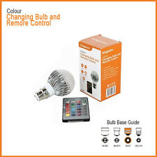 COLOUR CHANGING Household BULB with Remote Control, 5W E27 16 COLOURS RGB BULB