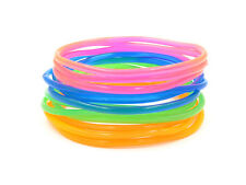 New High Quality 24 Piece Transparent Colored Jelly Bracelet Set #B1004-24
