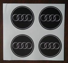 50 mm fits audi wheel STICKERS center badge centre trim cap hub  alloy au