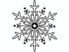 """Stempel """"Eiskristall"""" 39x45mm Holzstempel FSC NEU Schneeflocke Weihnachten NEU"""