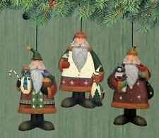"3 Assorted Santa Ornaments - ""Forest Friends"" - Williraye - 2881 - New"