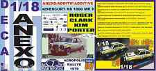 ANEXO DECAL 1/18 FORD ESCORT RS 1800 MK II ROTHMANS R.CLARK ACROPOLIS 1979 (01)