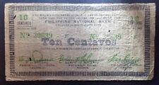 Collectable Philippine Emergency Banknote. Ten Pesos. Series Of 1942.