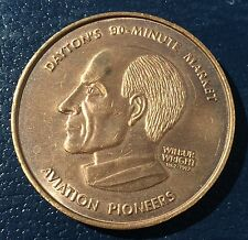 Dayton Ohio Aviation Lanmarks Pioneer Wilbur Wright Coin Medal