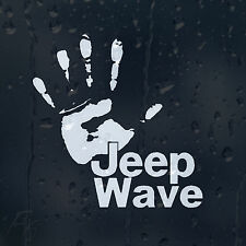 Jeep Wave Hand Print Car Bumper Window Decal Vinyl Sticker