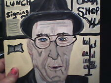 Man in front of Literary Bookstore Original Painting by Linda Stamberger!