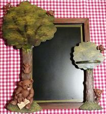 COUNTRY CORNER CADRE ARDOISE ARBRE OURS RELIEF INTERIOR'S COMME NEUF TEDDY BEAR