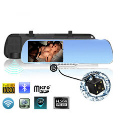 """5.0"""" Android 4.4 Car GPS Navigation Rearview MirrorAllwinner A33 1080P Car DVR"""