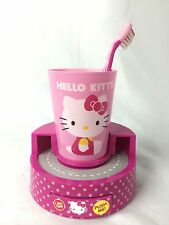 Hello Kitty Oral Timer Gift Set For Children Cup Toothbrush Timer Tooth Paste