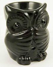 Oil Burner Ceramic Owl Black