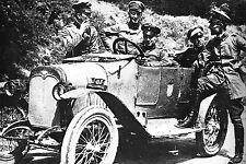 WW1 -  Photo - Officiers allemands en voiture en Belgique